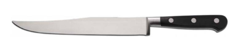 cuchillo punta en el lomo